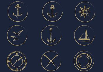 Free Vector Nautical Icon Set - Free vector #141239