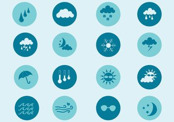 Free Vector Weather Icon Set - бесплатный vector #141259