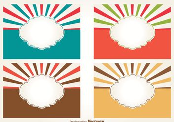 Retro Style Blank Sunburst Labels - Kostenloses vector #141319