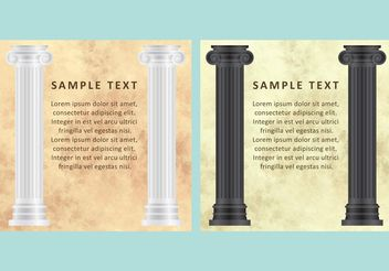 Marble And Columns Vectors - vector #141449 gratis