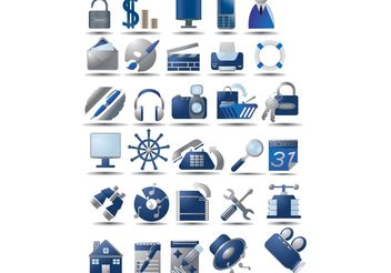 Free Vector Icon Set - Free vector #141509