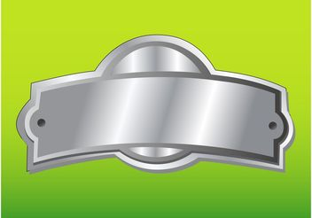 Silver Badge - vector gratuit #141579