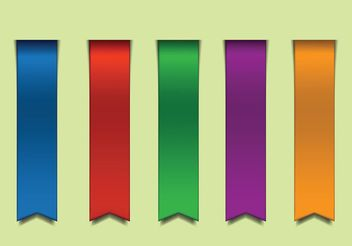 Free Colorful Vector Ribbons - Kostenloses vector #141589