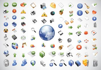 Web Icons Pack - vector gratuit #141599