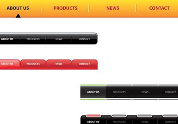 Website Navigation Bars - Free vector #141619