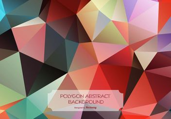 Colorful Abstract Polygon Background - vector #141669 gratis
