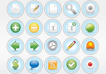 Computer Vector Icon Pack - бесплатный vector #141749