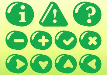 Green Icon Set - vector gratuit #141949