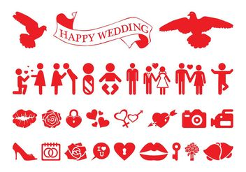 Love And Marriage Icon Set - Free vector #141969