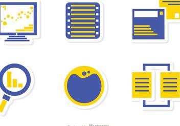 Big Data Management Icons Vector Pack 1 - Free vector #141999