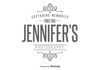 Photographer Retro Style Logo Template - Kostenloses vector #142029