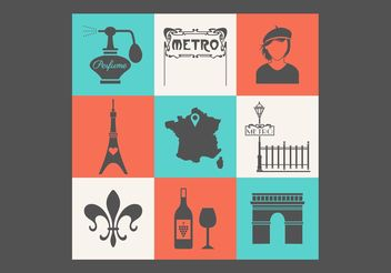 Free Paris Vector Icon Set - Free vector #142039
