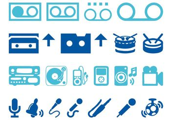Audio Icons Set - vector #142059 gratis