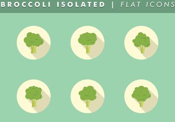 Broccoli Isolated Icons Vector Free - vector gratuit #142069