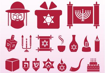 Hanukkah Icons Set - vector #142089 gratis