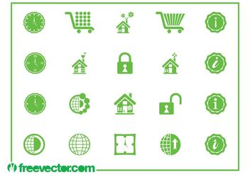 Icons And Symbols Graphics - vector gratuit #142119