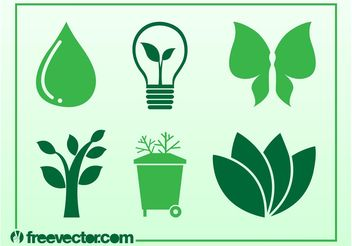 Ecology And Nature Icons - vector gratuit #142149