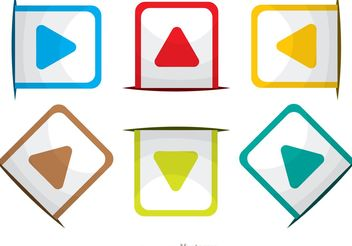 Rounded Square Arrow Icons Vector Pack - vector gratuit #142219