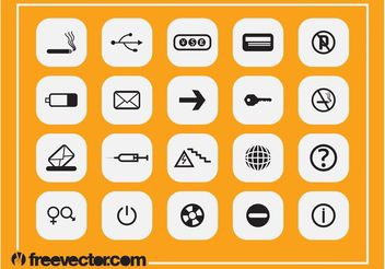 Square Icons Designs - vector gratuit #142229