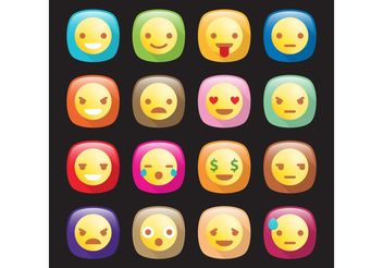 Emoticon Vector Icons - vector gratuit #142239