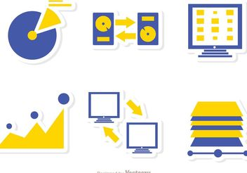 Big Data Management Icons Vector Pack 5 - vector gratuit #142249