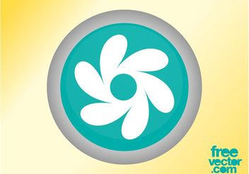 Floral Button - vector gratuit #142299