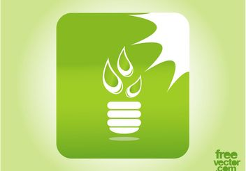 Green Lighting Button - vector gratuit #142319