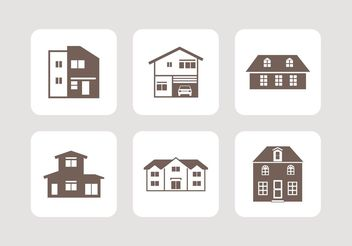 Free Houses Vector Icons - Kostenloses vector #142429