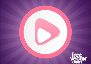 Pink Play Button - vector gratuit #142499