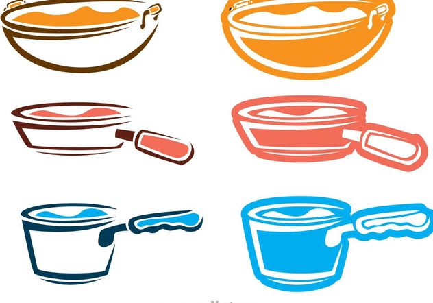 Kitchenware Outline Icons Vector Pack - Free vector #142539