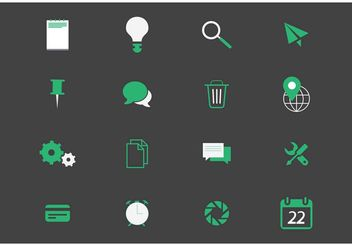 Miscellaneous Vector Icons - Free vector #142559
