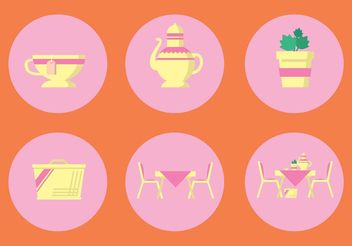 High Tea Vector Icon Set - бесплатный vector #142569