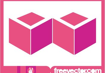 Pink Cubes Logo - Free vector #142679