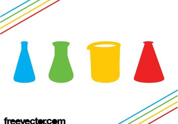 Chemistry Flasks Icons - vector gratuit #142689
