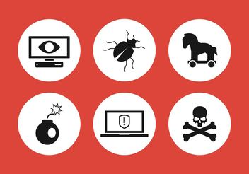 Computer Threat Icons - Free vector #142739