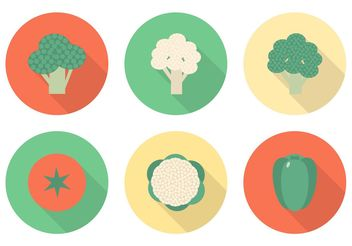 Free Flat Vegetables Vector Icons - Kostenloses vector #142779