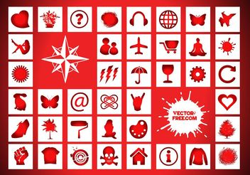Icons Signs Freebies - Free vector #142829