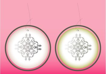 Floral Ornament Earrings - Kostenloses vector #142909