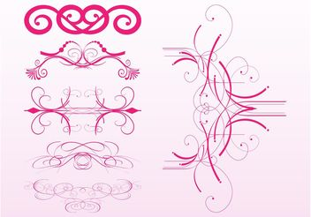 Swirling Ornaments Set - Free vector #142939