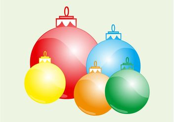 Christmas Balls Layout - Free vector #142989