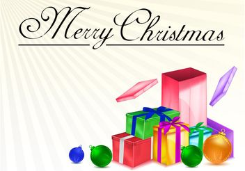 Christmas Presents Vector - vector gratuit #143019