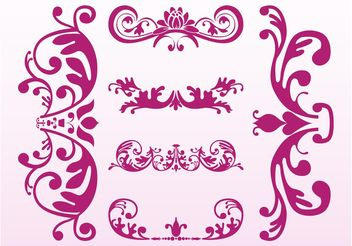 Floral Ornaments Designs - vector gratuit #143039
