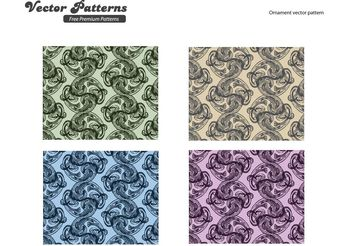 Ornaments Pattern Vector Graphics - Free vector #143069