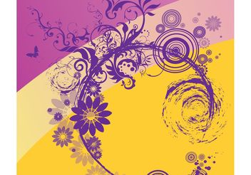 Nature Scroll Vector - Free vector #143139