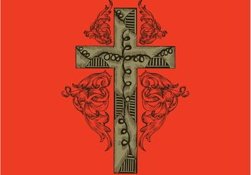 Ornamented Cross - Free vector #143199