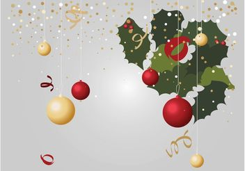 Christmas Decorations Vectors - vector gratuit #143209