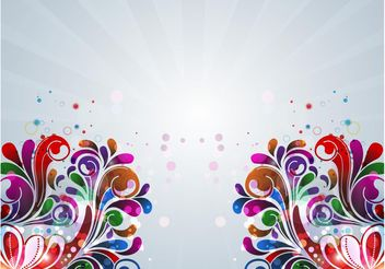 Floral Leaves - vector gratuit #143219