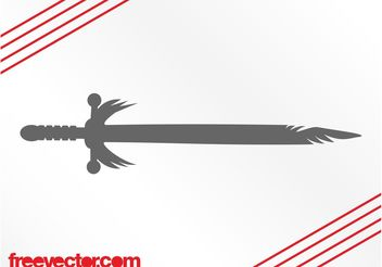 Antique Sword Silhouette - vector gratuit #143349