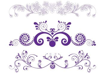 Flower Scrolls Graphics - Free vector #143359