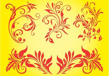 Floral Ornaments Set - бесплатный vector #143369